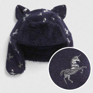 Toddler Unicorn Trapper Hat Baby Gap XS / S Girl